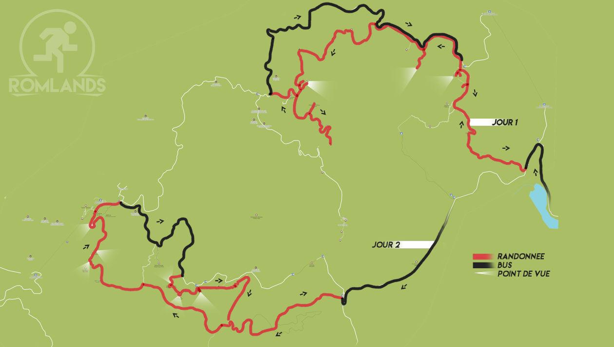 Le parc national de Zhangjiajie - CARTE FRANCAISE